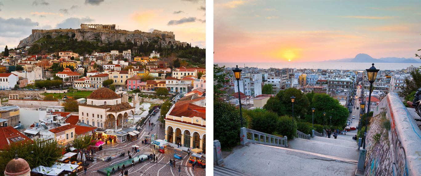 Routes to & from Athens-Patra