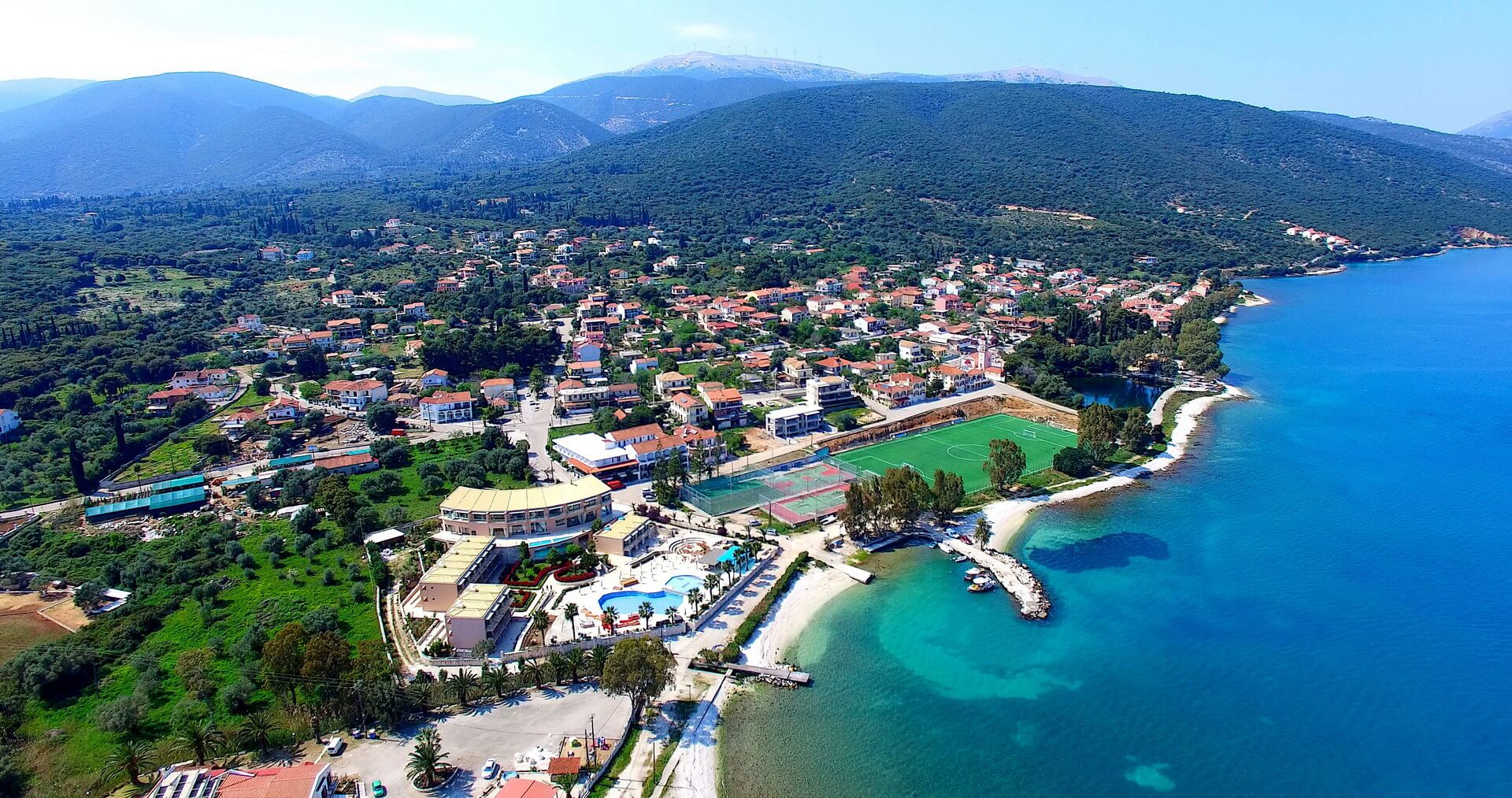 Town of Karavomylos at Sami Kefalonia