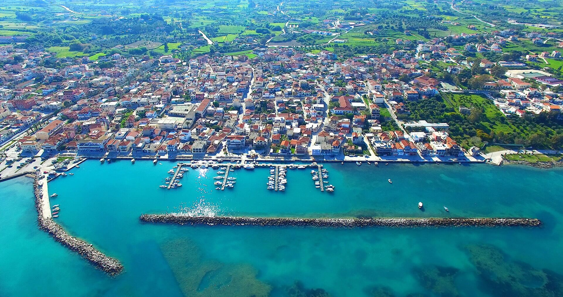 City of Lixouri at Kefalonia